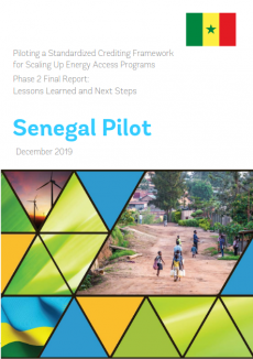 Lessons Learned and Next Steps Note for the Standardized Crediting Framework Pilot in Senegal