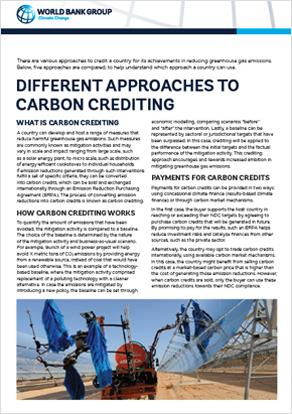 Different Approaches to Carbon Crediting